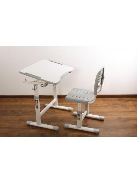 Комплект меблів шкільних (стіл учнівський та стілець учнівський), пластик, метал а312 grey