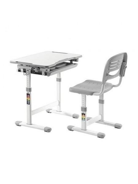 Комплект меблів шкільних (стіл учнівський та стілець учнівський) пластик,метал  арт. А315 W Grey