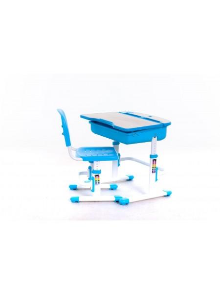 Комплект меблів шкільних (стіл учнівський та стілець учнівський) пластик, метал арт.А310 Blue