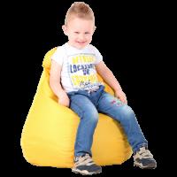 Кресло-мешок Груша Хатка детская Желтая (до 5 лет)