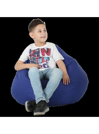 Кресло-мешок Груша Хатка средняя Синяя (подростковая)