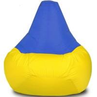 Кресло-мешок Груша Хатка Комби большая Желтая с Синим
