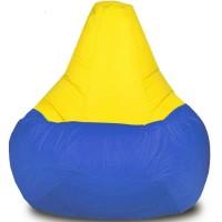 Кресло-мешок Груша Хатка Комби большая Синяя с Желтым
