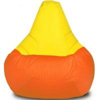 Кресло-мешок Груша Хатка Комби большая Оранжевая с Желтым