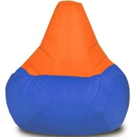 Кресло-мешок Груша Хатка Комби большая Синяя с Оранжевым