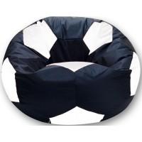 Кресло-мешок Мяч Хатка большой Черный с Белым