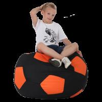 Кресло-мешок Мяч Хатка средний Черный с Оранжевым