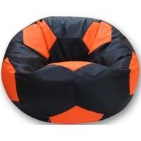 Кресло-мешок Мяч Хатка большой Черный с Оранжевым
