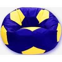 Кресло-мешок Мяч Хатка средний Синий с Желтым