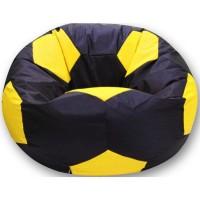 Кресло-мешок Мяч Хатка средний Черный с Желтым