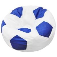 Кресло-мешок Мяч Хатка средний Белый с Синим