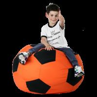 Кресло-мешок Мяч Хатка средний Оранжевый с черным