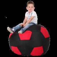 Кресло-мешок Мяч Хатка средний Черный с красным