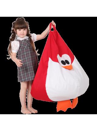 Крісло-мішок Хатка Королівський Пінгвін середній Червоний (підлітковий)