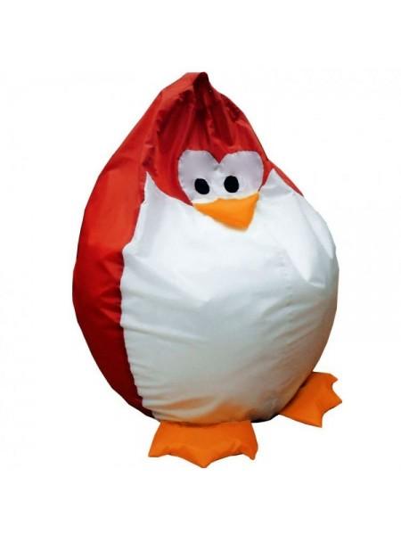 Кресло-мешок Хатка Королевский Пингвин детский Красный (до 5 лет)