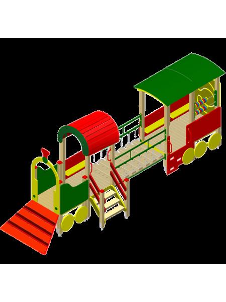 Поїзд 06 з трапом, рухомим містком і вагончиком