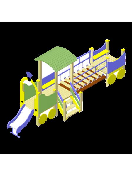Поїзд 07 з гіркою, сіткою, рухомим містком і сходами
