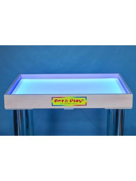Світлодіодний стіл-пісочниця кольоровий: Вільха / 700 × 500