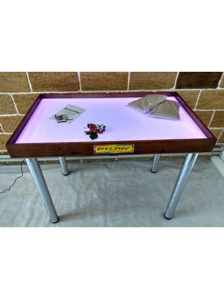 Світлодіодний стіл МАКСІ кольоровий - Ясень / 1000 × 600