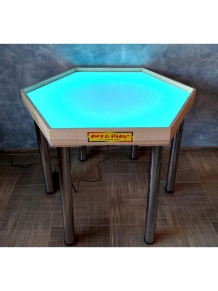 Шестикутний стіл для пісочної анімації і терапії Art & Play