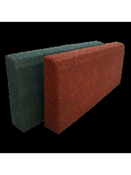 Гумовий бордюр ТМ «УкрПліт» 500 х 210 мм, товщина 50 мм