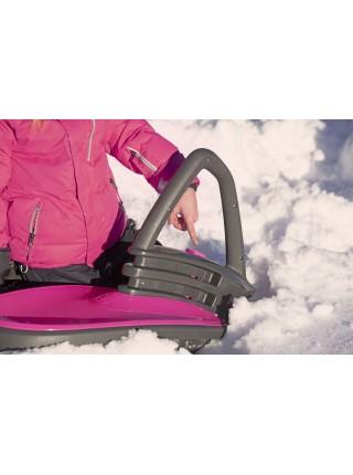 Санки Plastkon Skidrifter чорні з рожевим