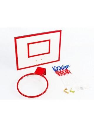Щит баскетбольный детский Newt Jordan с кольцом и сеткой 600х450мм