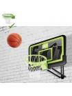 Баскетбольный щит Exit регулируемый чёрный + кольцо с амортизацией