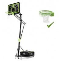 Стойка баскетбольна мобільна EXIT Galaxy black + кільце з амортизацією