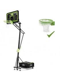 Стойка баскетбольная мобильная EXIT Galaxy black + кольцо с амортизацией